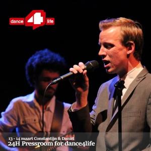 Constantijn & The Shepherds Dance4Life 24H Pressroom event